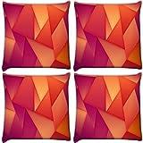 Snoogg Pack of 4 Digitally Printed Cushi...