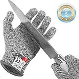 Lacari  Schnittschutz-Handschuhe (1 Paar) - Extra Starker Level 5 Schutz, EN-388 Zertifiziert - Hochwertiger & Leichter Kettenhandschuh