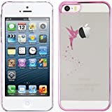 kwmobile Elegant and light weight Crystal Case Design fairy for Apple iPhone SE / 5 / 5S in dark pink transparent