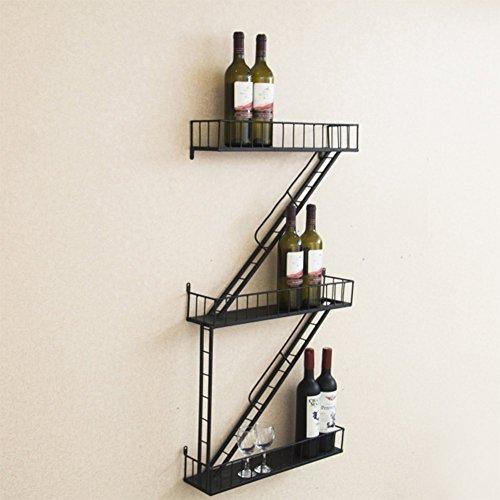 Z&hao scaffale a muro ristorante retrò rack scala vento industriale tipo z scaffale scaffale vino rosso vino