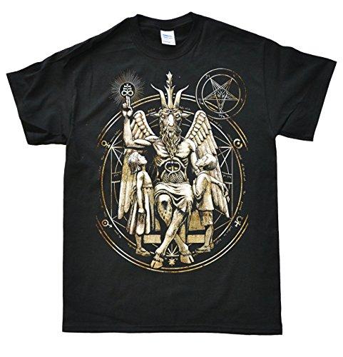 Baphomet Satanic Schwarz T-Shirt, Größe 3XL