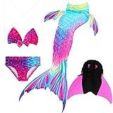 Das beste Mädchen Bikini Badeanzüge Schönere Meerjungfrauenschwanz Zum Schwimmen mit Meerjungfrau Flosse Schwimmen Kostüm Schwanzflosse - Ein Mädchentraum- Gr. 130, Farbe: A02(2)
