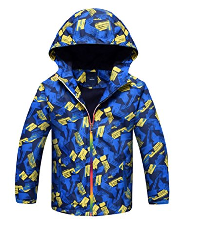Koo-T Boys Raincoat Fleece Lined Jacket Hood Wind Breaker Lightweight Age 3 4 5 6 7 8 9 10 11