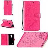 Chreey Coque LG G4 Stylus 2 / G Stylo 2 LS775 K520 (5.7 pouces) (Solid color - papillon - impression),PU Cuir Portefeuille Etui Housse Case Cover ,carte de crédit Fentes pour ,idéal pour protéger votre téléphone