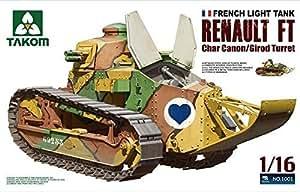 TAKom 1:16 French Light Tank Renault FT Char Canon /Girod Turret NO. 1001 by TAKom