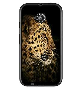 PrintDhaba Leopard D-4371 Back Case Cover for MOTOROLA MOTO E2 (Multi-Coloured)