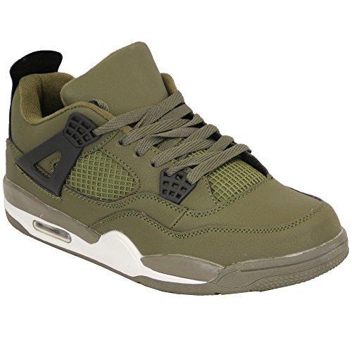 Baskets Hommes lacet de course actif Bulle chaussures chaussures baskets décontracté sport kaki - 2121