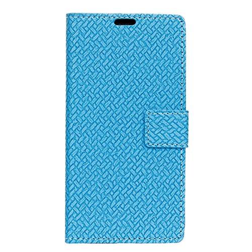 Sharp Aquos Ever SH-02J - Protector New Wallet Style Flip Cover Case for Sharp Aquos Ever SH-02J ONLY (Sharp Aquos Ever SH-02J Cover Blue) - Aquos 42