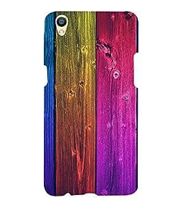 wood in Multi Colour 3D Hard Polycarbonate Designer Back Case Cover for Oppo F1 Plus :: Oppo R9