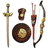 HALO NATION® Thugs of Hindustan Warrior Set - Knights Fancy Dress Kids Cosplay - Kings Sword, Sheild, Bow & 3 Arrows & a Hand Armour