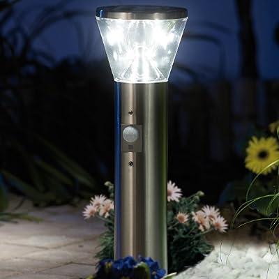 "Lunartec Solar-LED-Wegeleuchte ""Supreme"",PIR-Sensor, Edelstahl,4er-Set von Lunartec auf Lampenhans.de"