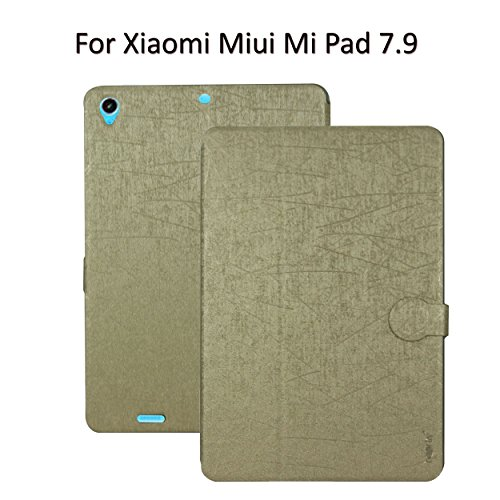 Heartly Premium Luxury PU Leather Flip Stand Back Case Cover For Xiaomi Miui Mi Pad 7.9 - Hot Gold
