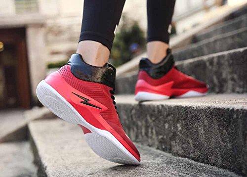 Uomini Scarpe da basket 2017 Autunno moda scarpe casual Scarpe atletiche traspiranti Red