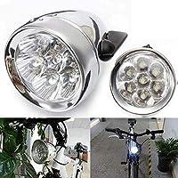 Nologo Retro 7 LED MTB Bicicleta Luz de la Bicicleta Impermeable de la Cabeza de la Luz de la Luz Frontal de la Linterna de Carretera Soporte de Montaña Ciclismo de Seguridad LED Running