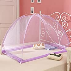 Generic Purple, 60x120cm : 1pc Babies Children(0-8 years old) Magic Bedroom Mongolian Yurt Mosquito Net Mesh Folded Summer Home Bed Nets 2058MN