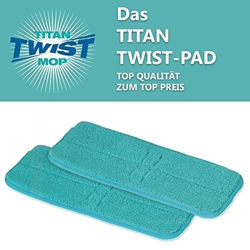 Titan Twist Mop 2er Set Esatzpads - Bekannt aus dem TV