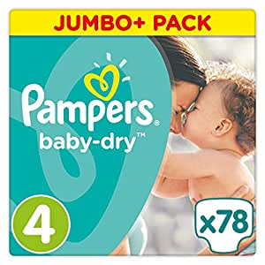 pampers baby dry couches taille 4 8 16 kg jumbo. Black Bedroom Furniture Sets. Home Design Ideas