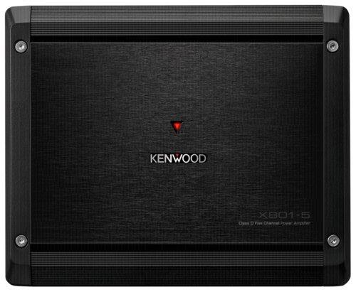 Kenwood X801-5 Class D 5-Kanal Endstufe mit 2 Ohm Laststabilität schwarz (2 12 Kenwood)