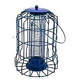 Vivo NEW MODEL Hanging feeder Squirrel Proof Guard Bird Fat Ball Seed Nut feeding GardenTray[Blue (Nut)]