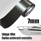 ZIERSTREIFEN 10m ANTHRAZIT 7mm METALLIC Auto Boot Jetski Modellbau Vinyl Dekorstreifen