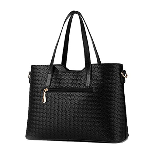 SSMK Leather Tote Bag, Borsa tote donna Silver Grey