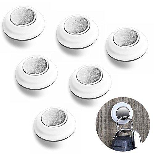 6 Schlüssel Haken Sticky Magnetschlüssel Inhaber Racks für Schlüsselanhänger Ring Schlüsselanhänger & Auto Schlüssel - Smart Mini Magnet Rack für Lichtschalter, Kühlschrank, 3 M selbstklebend - Mini-kühlschrank-schlüssel