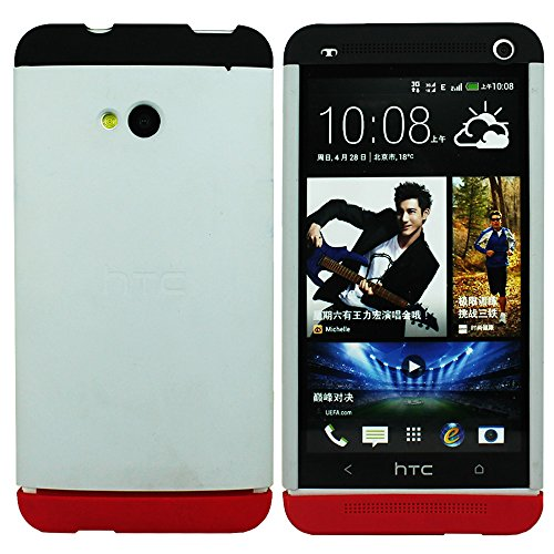 Heartly Double Dip Hard Shell Premium Back Case Cover For HTC One 802D 802T 802W - Black White Red  available at amazon for Rs.549