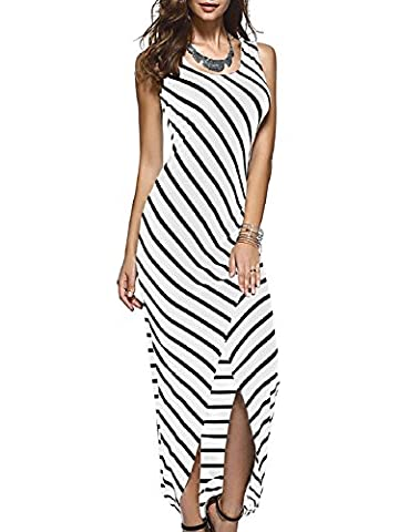 Xizi Femmes Robe Maxi Robe sans manches Striped Racerback Sundress XL
