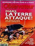Telecharger Livres NOUVEL OBSERVATEUR No 1705 du 10 07 1997 ARCHEOLOGIE L HISTOIRE CACHEE DE LA FRANCE MARS LA TERRE ATTAQUE REVELATION D UNE CONQUETE MOLIERE CORNEILLE RACINE L ON AIMEE LES AVENTURES DE LA MARQUISE DU PARC (PDF,EPUB,MOBI) gratuits en Francaise