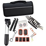 SaySure - Bike Bicycle Tyre Tube Repair Pump Multi Tool Set Kit Hex Wrench With Pouch - GMN-BG-SPT-000209