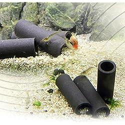 Jiamins 6 Pack Tube en céramique Decoration Aquarium décor d'aquarium en Céramique Grotte d'élevage pour crevette et Petits Poisson