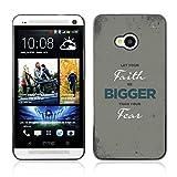 Bible Case Schutz Hülle Case HTC ONE ( M7 ) / LET YOUR FAITH BE BIGGER /