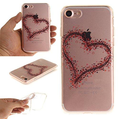Voguecase® für Apple iPhone 7 Plus 5.5 hülle, Schutzhülle / Case / Cover / Hülle / TPU Gel Skin (Pflaumen 16) + Gratis Universal Eingabestift Rot Herzen 07