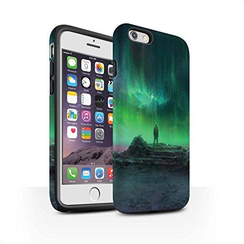 Offiziell Chris Cold Hülle / Matte Harten Stoßfest Case für Apple iPhone 6 / Pack 12pcs Muster / Fremden Welt Kosmos Kollektion Polarlicht