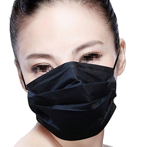 lige medizinische Chirurgische Staub Ohrschleife Gesicht Mund Masken weiche Breathability Vier Ebenen Aktivkohlefilter Gesichtsmasken (Ebene Maske)
