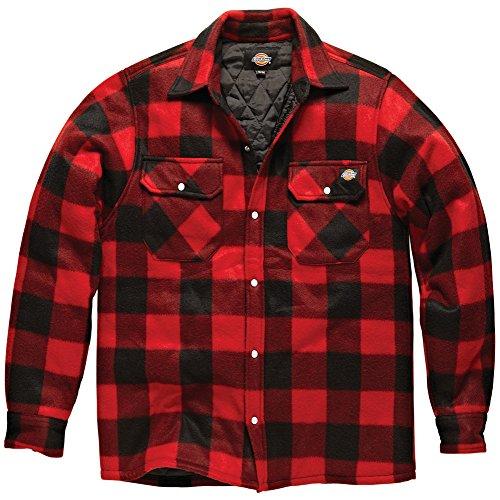 Dickies -  Camicia Casual  - Uomo rosso/nero Medium