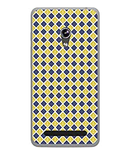 PrintVisa Designer Back Case Cover for Asus Zenfone 6 A600CG (Blue Diagonal Lines Anchor Diamond )