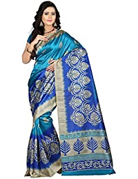 e-VASTRAM Women's Mysore Art Silk Saree (NS4B_Blue)