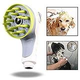 Xrten Hunde Handbrause Duschkopf,Haustier Dusche Sprayer mit Bürste für Hunde Katzen Duschen