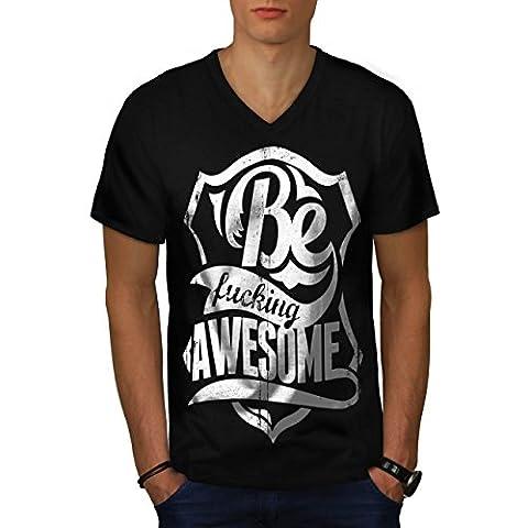 Sein Ficken Awsome Slogan Komisch Zitat Herren S V-Ausschnitt T-shirt | Wellcoda (Ausschnitte Vorlage)