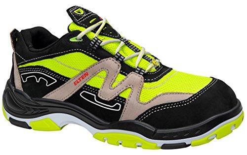 Neon-trainer (ELTEN Sicherheitsschuhe BOOSTER Low ESD S3, Herren, sportlich, leicht, neon, Stahlkappe - Größe 42)
