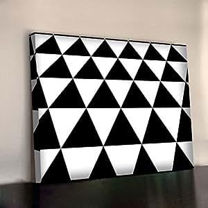 Bridget Riley Pyramides Art Print 340g/m² encadrée XL 76,2x 50,8cm Toile Coton Bureau Tableau mural 750x 500mm
