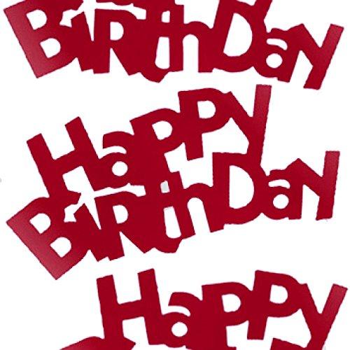 1 Stück 'Happy Birthday - Schriftzug', rot