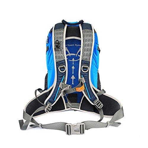 SEABECCA Zaino Outdoor Trekking Alpinismo Bag Luce Borsa A Tracolla Equitazione Impermeabile , green Blue