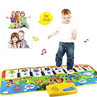 LIMITA New Play Keyboard Musical Music Singing Gym Carpet Mat Best Kids Baby Gift (As shown)
