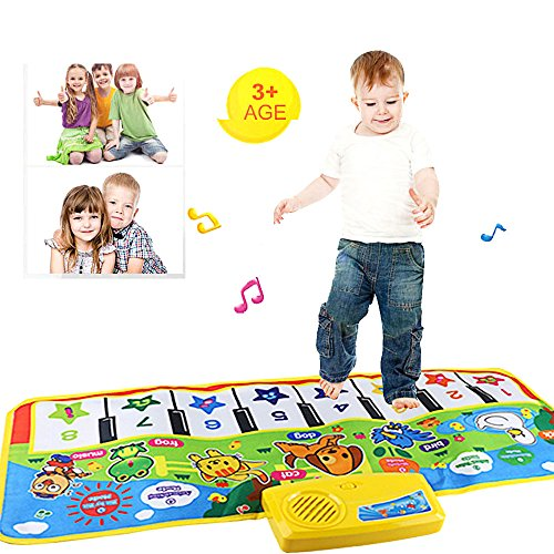 litalily-❤Multi-functional animal music blanket New Play Keyboard Musical Music Singing Gym Tappeto Tappetino Best Kids Baby Gift (multicolore)
