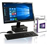 Lautloser All-in One Intel Quad 61 cm (24.0 Zoll LED) Desktop (Intel Quad 4x2.41 GHz, 8 GB RAM, 750 GB HDD, Intel HD Graphics, HDMI, VGA, USB 3.0, Win 10 Professional, Tastatur, Maus) schwarz #4961