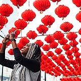 30 Paquets de Lanternes Rouges Chinoises pour la Décoration du Nouvel an Chinois pour Chasser la Mauvaise Chance