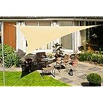 Kookaburra Wasserfest Sonnensegel Sandfarben Wasserabweisend Imprägniert Wetterschutz 98% UV Schutz für Garten Terrasse…