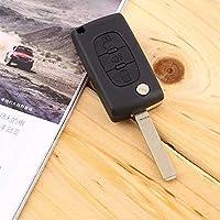 Remote Entry Key Fob Shell Case 3 Buttons Folding Remote Car Key Shell Case CITROEN Peugeot C2 C3 C4 C5 C6 C8